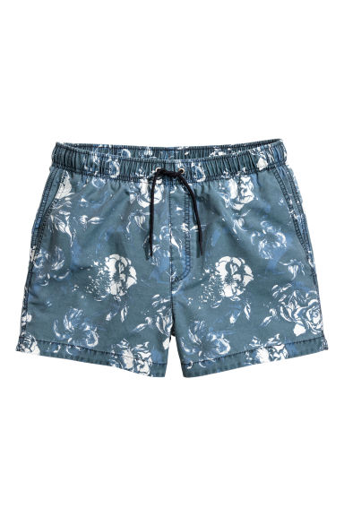 Short swim shorts - Blue/Floral -  | H&M