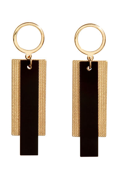 Long earrings - Gold/Black - Ladies | H&M GB