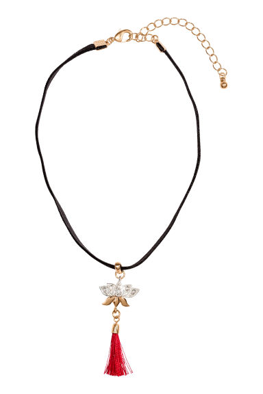 Choker with a pendant - Black/Red - Ladies | H&M CN