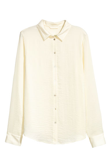 Long-sleeved blouse - Natural white - Ladies | H&M CA