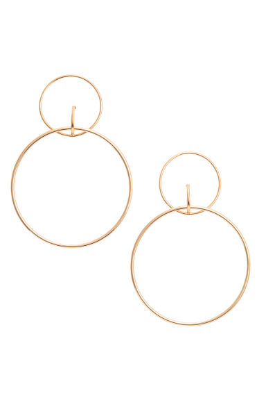 Large earrings - Gold -  | H&M GB