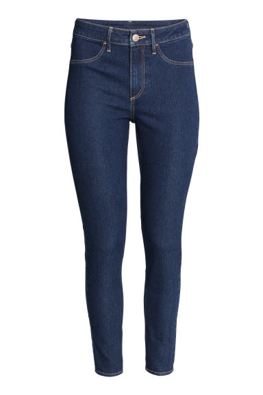 Skinny High Ankle Jeans - Dark denim blue - Ladies | H&M