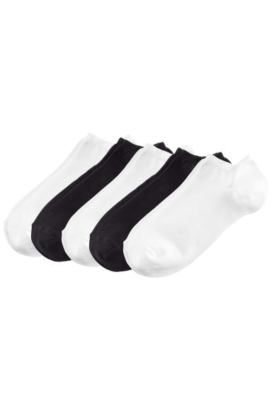 5-pack trainer socks - Black/White - Ladies | H&M IE