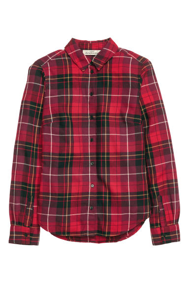 Checked flannel shirt - Red - Ladies | H&M CA