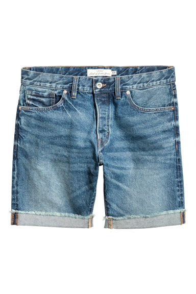 Denim shorts - Denim blue - Men | H&M