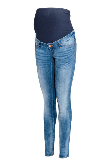MAMA Shaping Skinny Jeans - Denim blue/Washed - Ladies | H&M GB
