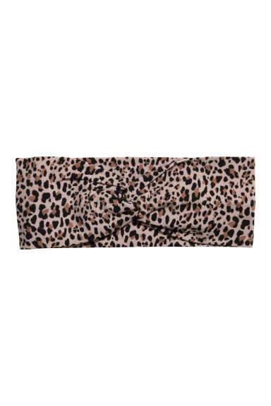 Patterned Hairband - Leopard print - Ladies | H&M US