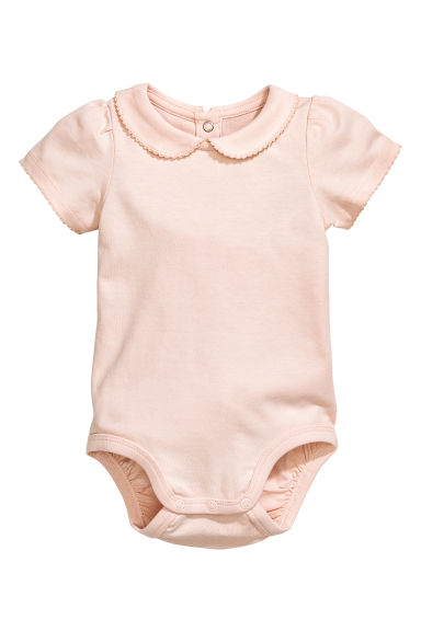 Short-sleeved bodysuit - Powder pink - Kids | H&M CN