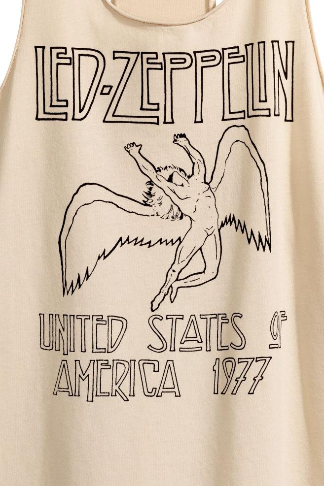 b253c8d9581d7 ... Tank Top - Beige Led Zeppelin -