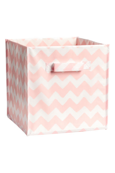 Storage box - Light pink/Patterned - Home All | H&M GB
