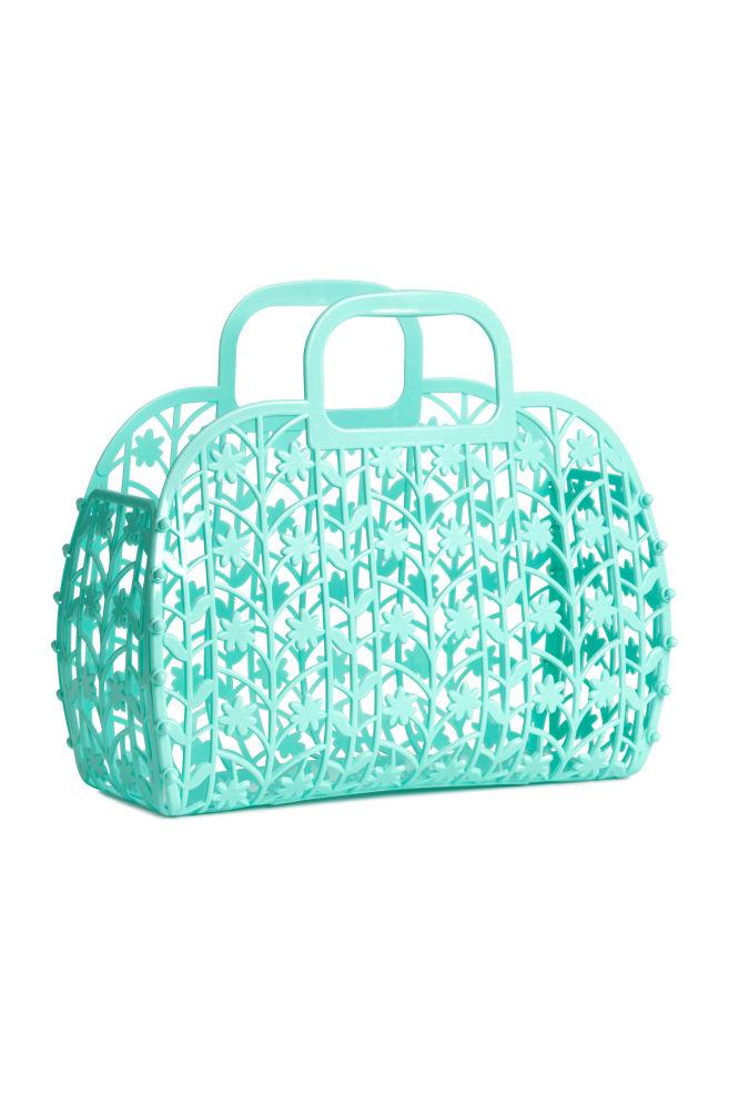 00aa0631fab9 Lyukmintás műanyag táska - Türkiz - GYEREK   H&M ...