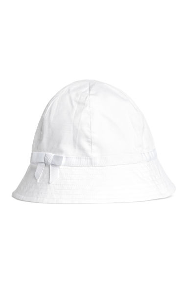 Cotton sun hat - White - Kids | H&M CN