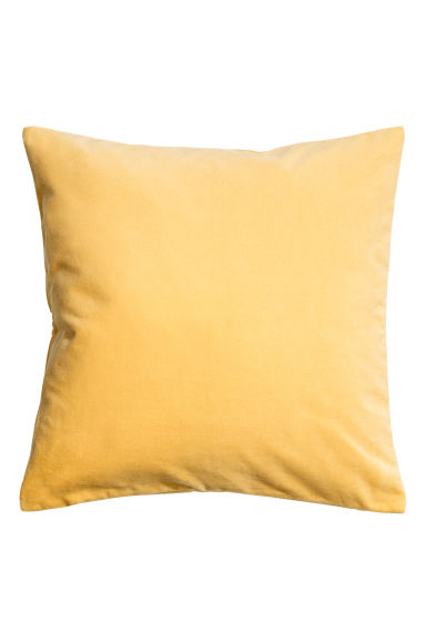 Velvet Cushion Cover - Yellow - Home All | H&M US