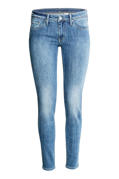 Super Skinny Low Jeans - 牛仔蓝/水洗 - 女 | H&M CN