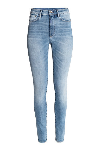 Shaping Skinny High Jeans - Light denim blue - Ladies | H&M CN