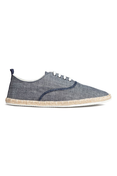 Espadrilles with lacing - Dark blue marl -  | H&M