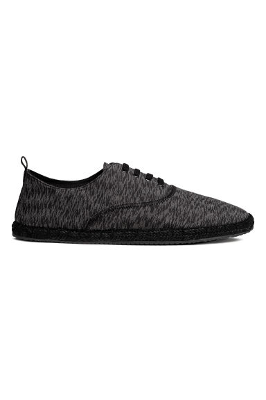 Espadrilles with lacing - Black marl - Men | H&M CA