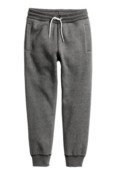 Sweatpants - Dark grey marl -  | H&M CN