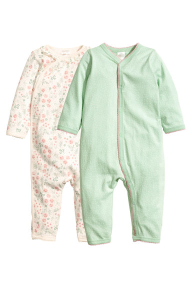 2-pack all-in-one pyjamas - Light green -  | H&M IE