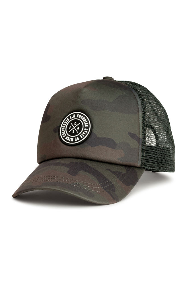 Gorra estampada - Verde caqui oscuro - HOMBRE  de03a0b2926