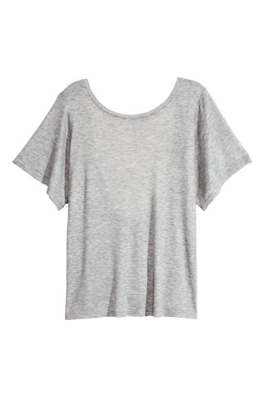 Top with a low-cut back - Grey marl - Ladies | H&M