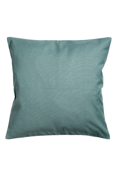 Cotton canvas cushion cover - Light petrol - Home All | H&M CN