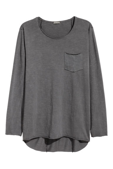 長袖T恤 - Dark grey -  | H&M