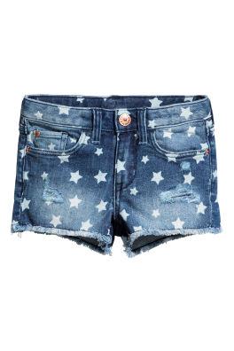 98dd80f265f4 Patterned denim shorts