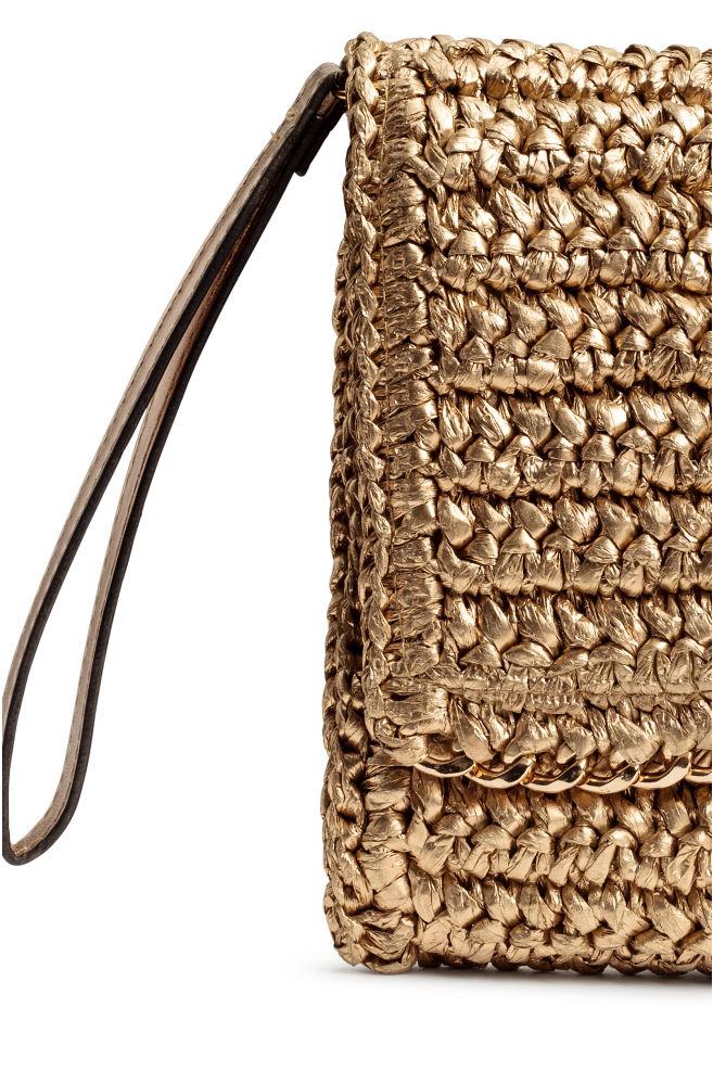 9dfe2e709f ... Straw clutch bag - Gold - Ladies   H&M ...