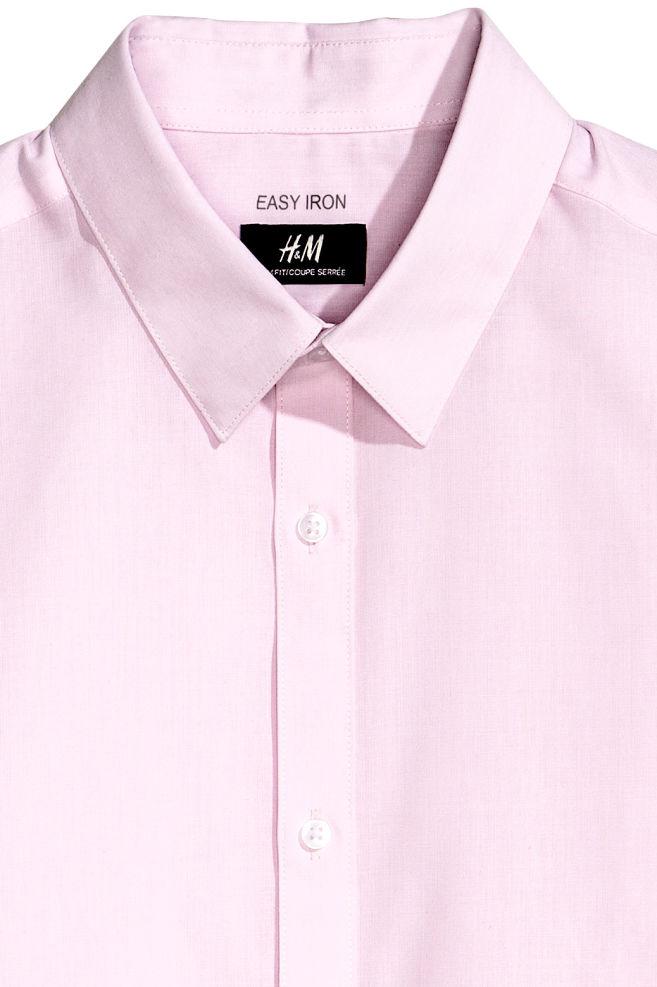 eec71a7b40 ... Szűk fazonú ing - Világos rózsaszín - FÉRFI | H&M ...
