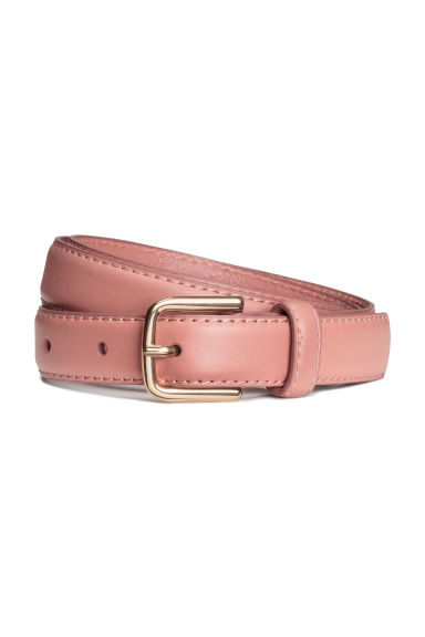 Leather belt - Vintage pink - Ladies | H&M GB