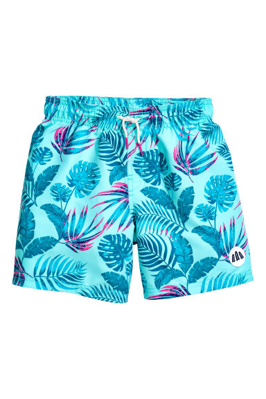 Swim shorts - Turquoise/Leaf - Kids | H&M