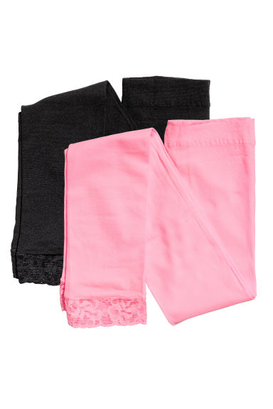 2-pack leggings - Neon pink - Kids | H&M CN