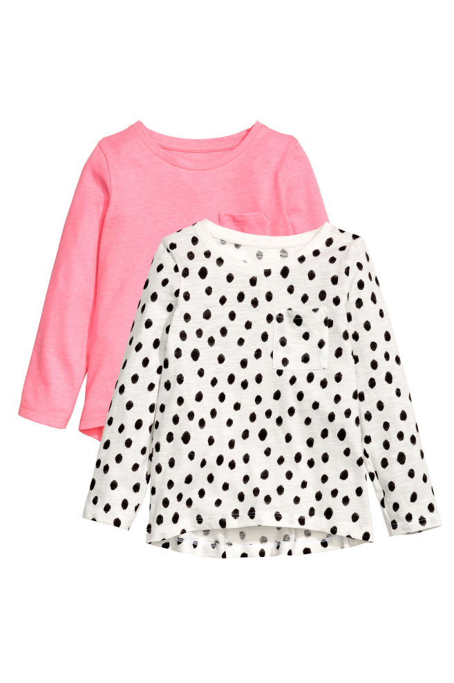 b9cd92e1d28668 2-pack tops - White/Spotted - Kids   H&M ...