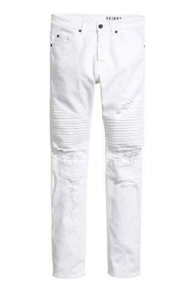 Biker jeans - White - Men | H&M