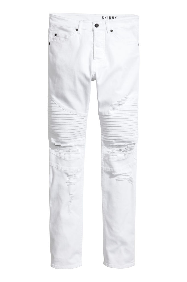 88e6d5481a Biker Jeans - White - Men | H&M ...