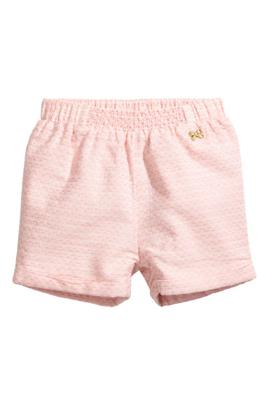 Cotton shorts - Powder pink - Kids | H&M CN