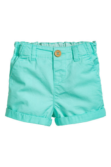 Cotton shorts - Turquoise - Kids | H&M IE