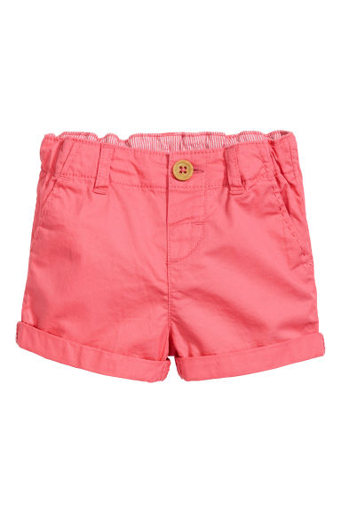 Cotton shorts - Coral pink - Kids | H&M IE