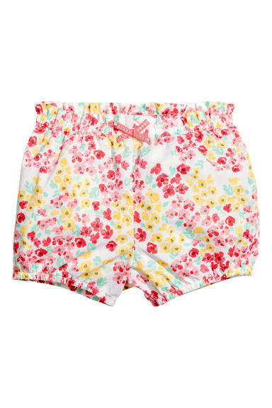 Cotton shorts - White/Floral - Kids | H&M CA