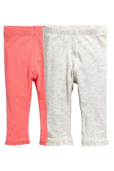 Set van 2 leggings - Koraalroze -  | H&M BE
