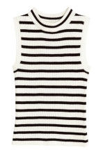 White/Black striped
