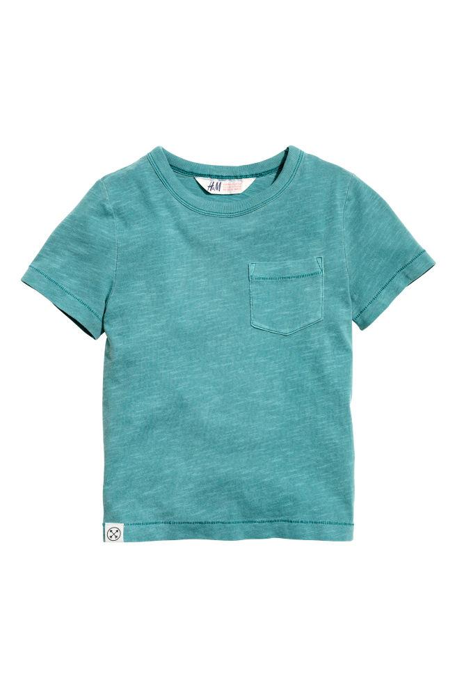 5996f593 T-shirt i flamméjersey - Mørk turkis - BØRN | H&M ...