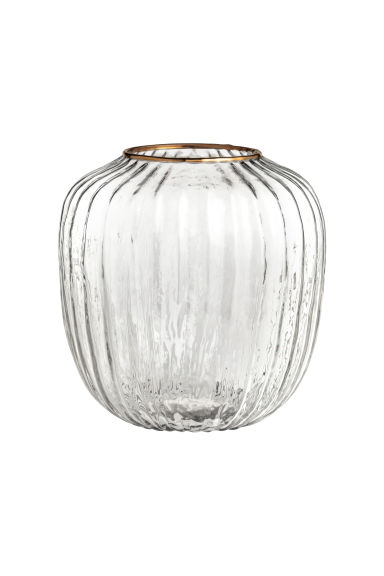 Vase en verre transparent - Verre transparent/doré -  | H&M BE