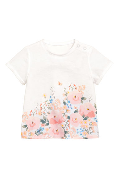 Printed top - White - Kids | H&M CN