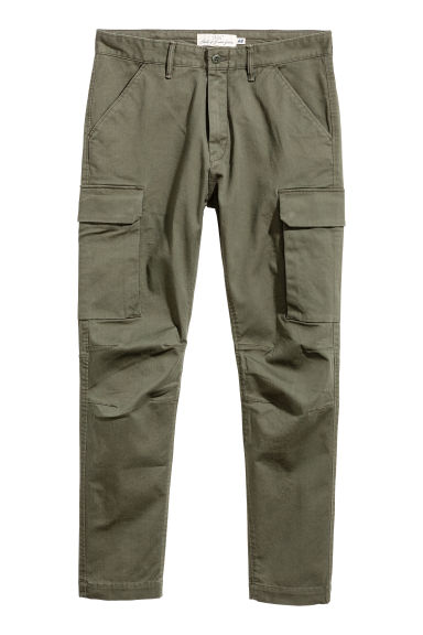Cargo trousers - Khaki green -  | H&M IE