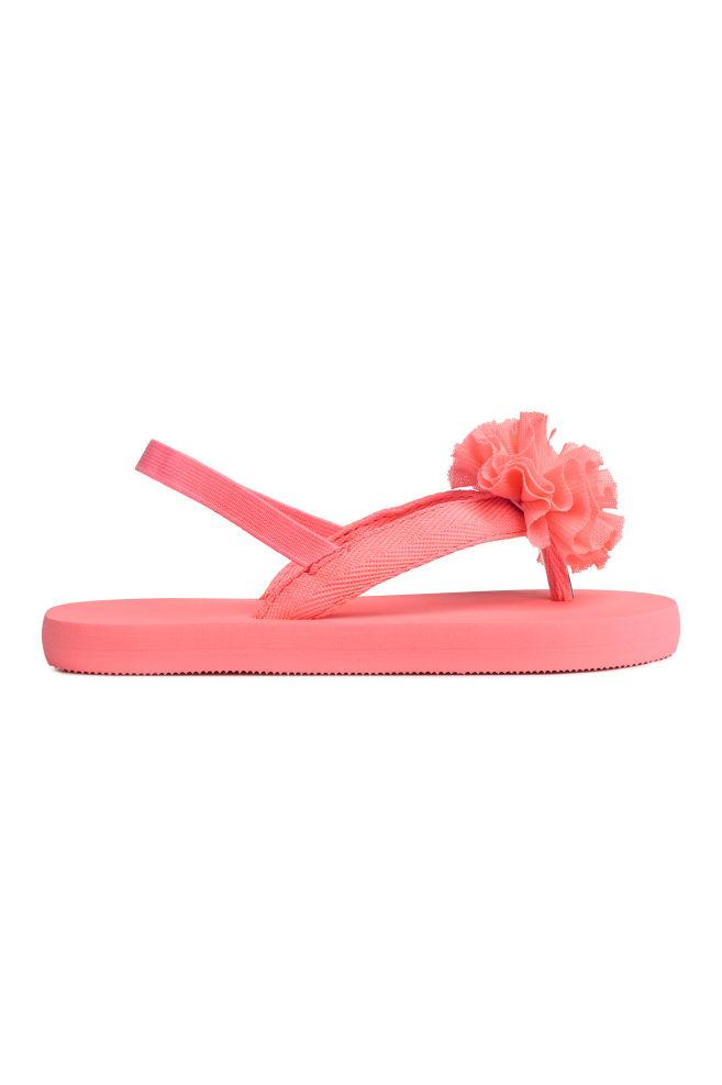 602d16cbded016 Teenslippers - Koraalroze - KINDEREN | H&M ...