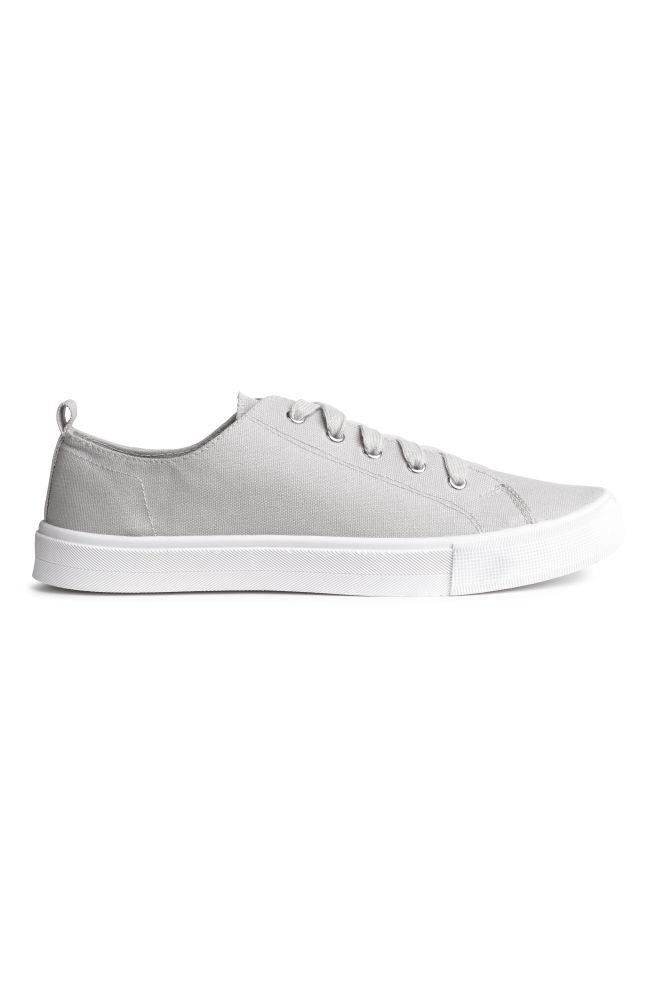 e1c4afa7 Płócienne buty sportowe - Jasnoszary - ONA | H&M ...