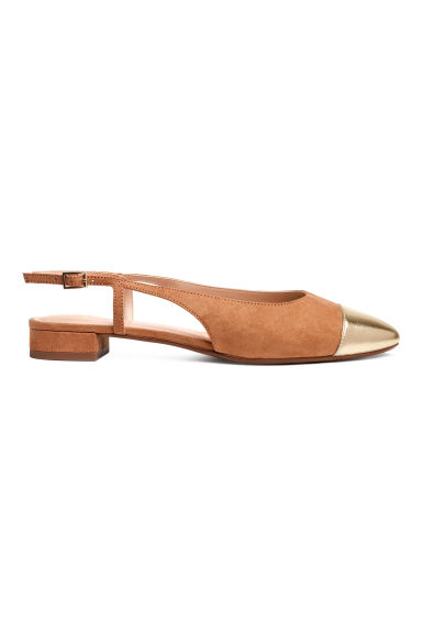 Slingbacks - Light brown - Ladies | H&M GB