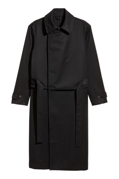 Wollen trenchcoat - Zwart - HEREN | H&M BE